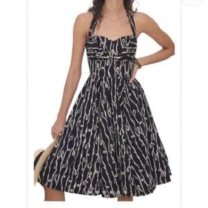 Girls from Savoy   Cerys Halter Dress   Black  2